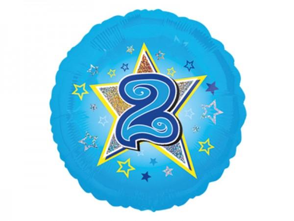 Zahlenballon 2. Geburtstag