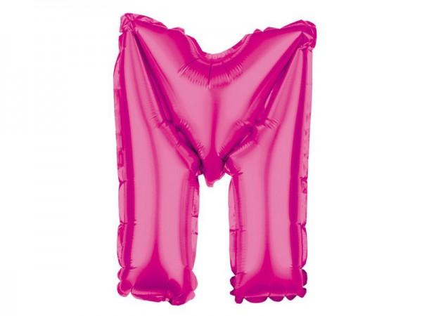 Folienballon Buchstabe M pink Buchstabenballon