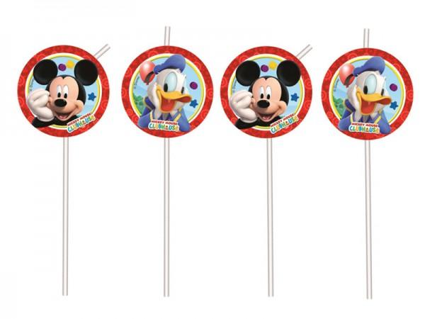 Strohhalme Mickey Mouse und Donald Duck Trinkhalme