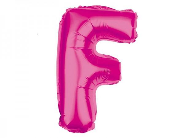 Folienballon Buchstabe F pink Buchstabenballon
