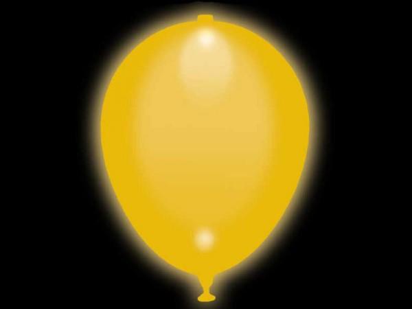 LED Luftballons gelb 5 Stk.