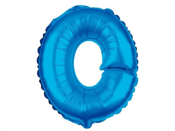 Zahlenballon Zahl 0 blau 80cm