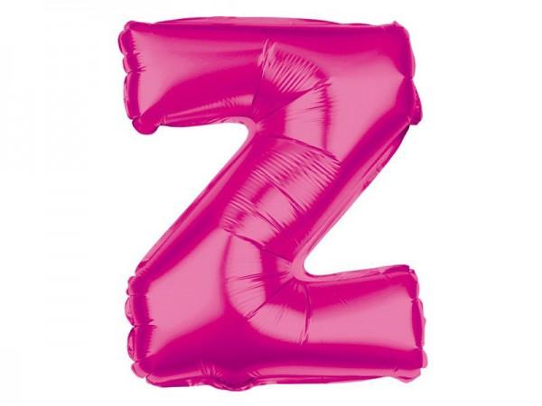 Folienballon Buchstabe Z pink Buchstabenballon