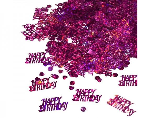 Konfetti Happy Birthday pink