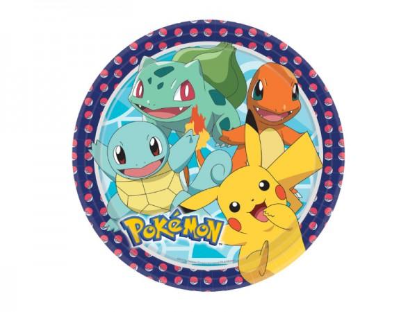 Pokemon Pappteller mit Pikachu und Co
