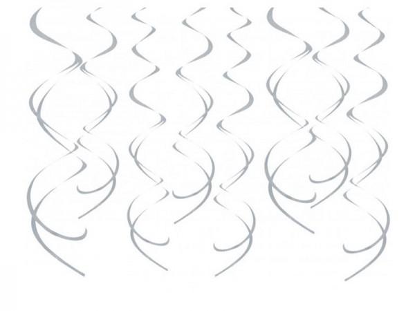 Dekospiralen silber Spiralen 8 Stk.