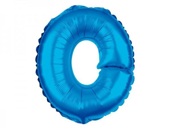 Folienballon Buchstabe O blau Buchstabenballon