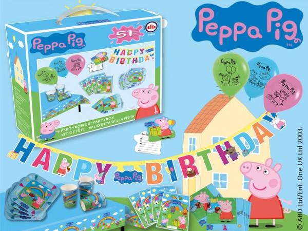 Geburtstagsdeko Set Peppa Wutz Partydeko Set für Kindergeburtstag