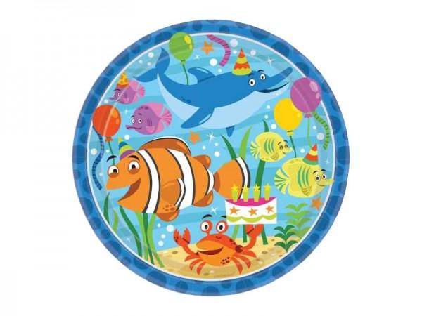 Pappteller Ocean Buddies Unterwasserwelt Partyteller