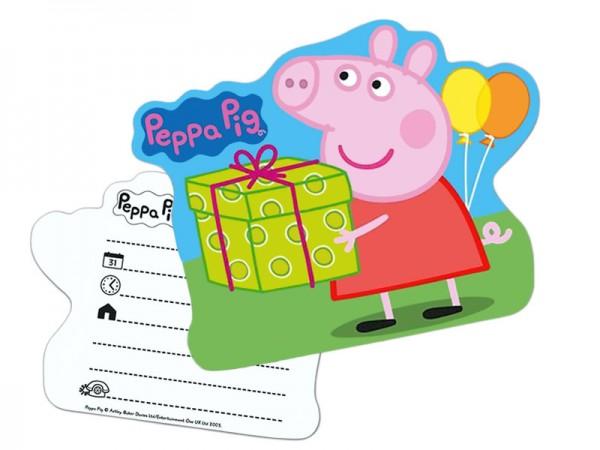 Geburtstagseinladungen Peppa Wutz Einladungskarten Peppa Pig Kindergeburtstag