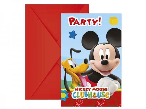 Geburtstagseinladungen Mickey Mouse Einladungskarten Kindergeburtstag