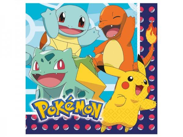 Pokemon Servietten mit Pikachu und Co