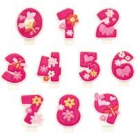 Zahlenkerzen pink