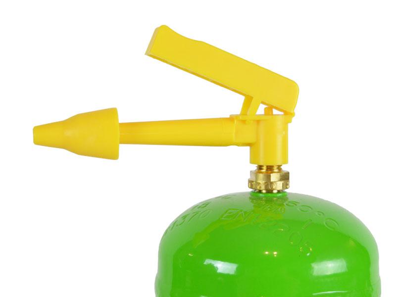 Füllventil der kleinen Helium Flasche