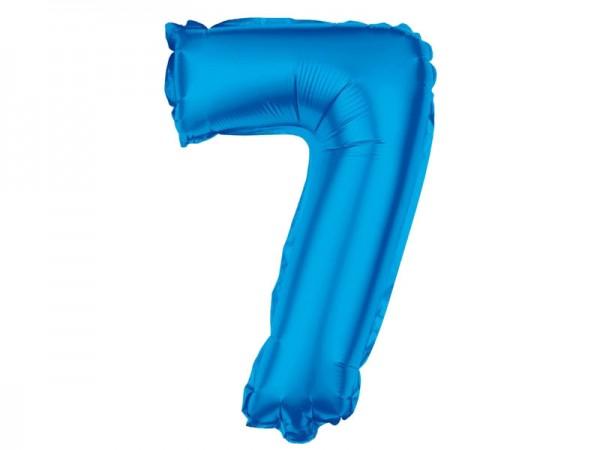 Zahlenballon Zahl 7 blau 80cm