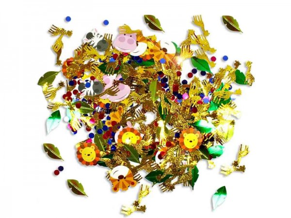 Konfetti Dschungeltiere Streukonfetti Safari