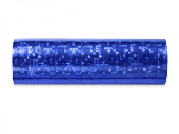 Luftschlangen blau holographisch glitzernd