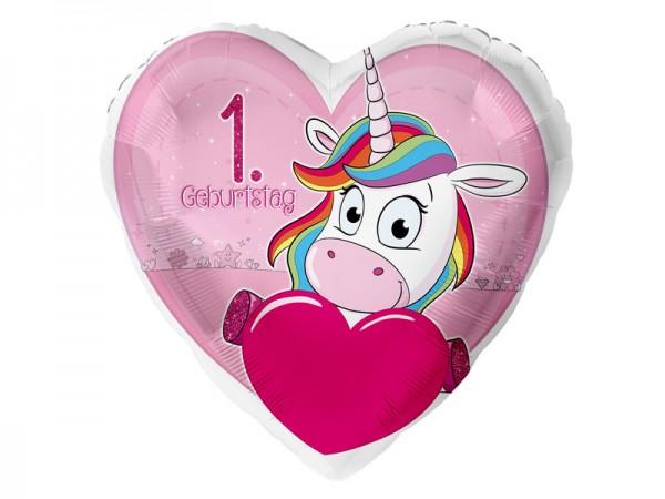 Zahlenballon Einhorn 1. Geburtstag
