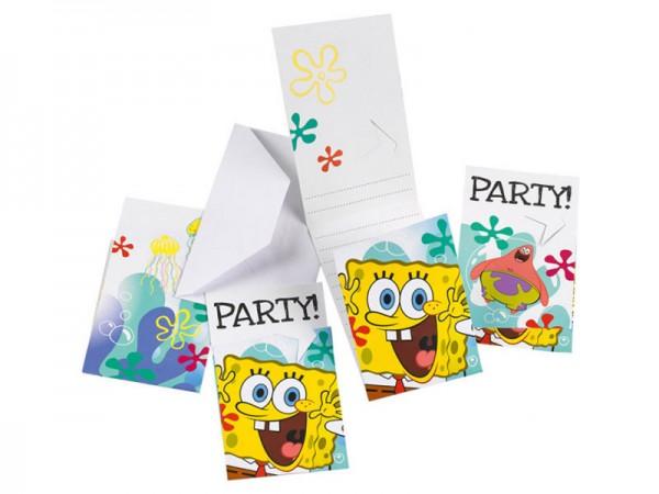 Geburtstagseinladungen Spongebob Schwammkopf Einladungskarten Kindergeburtstag