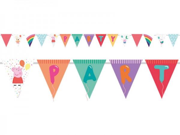 Wimpelkette Peppa Wutz Wimpelgirlande Peppa Pig Girlande für Geburtstag