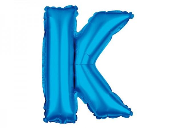 Folienballon Buchstabe K blau Buchstabenballon