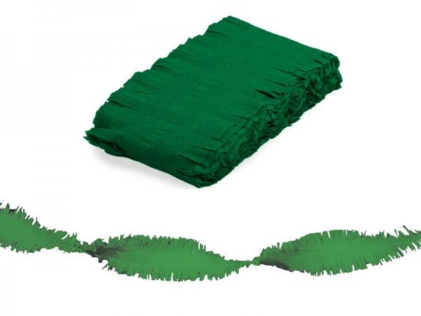 Kreppgirlande grün