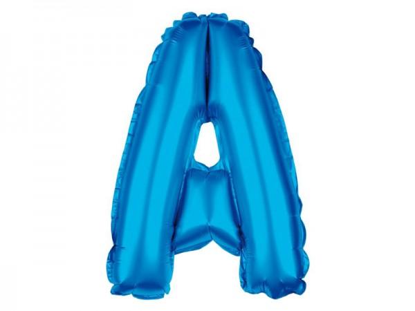 Folienballon Buchstabe A blau Buchstabenballon