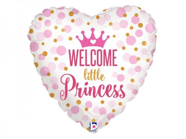 Folienballon Prinzessin Ballon Welcome little Princess