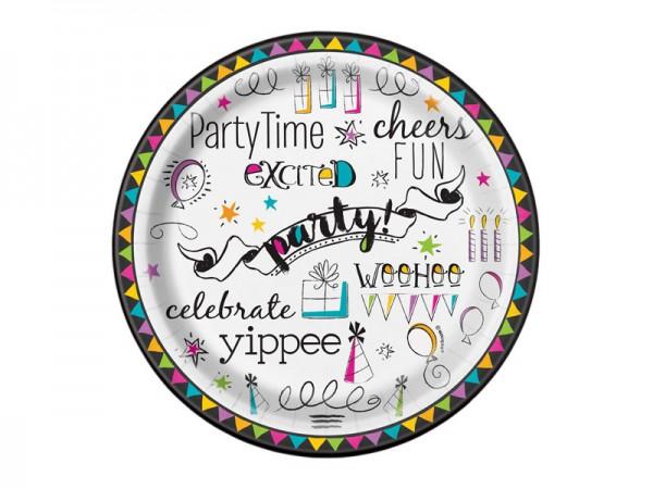 Pappteller Happy Birthday Partyteller