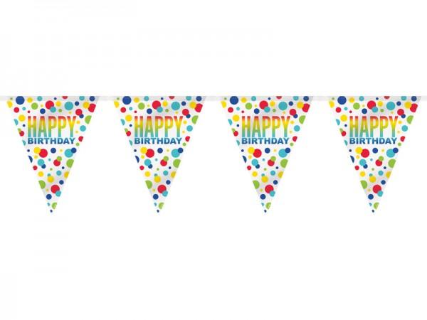Wimpelkette Happy Birthday Wimpelgirlande