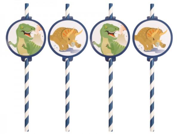 Papierstrohhalme Dinosaurier Papiertrinkhalme