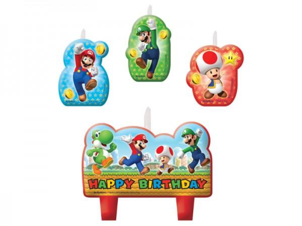 Geburtstagskerzen Super Mario Kerzen für den Geburtstagskuchen