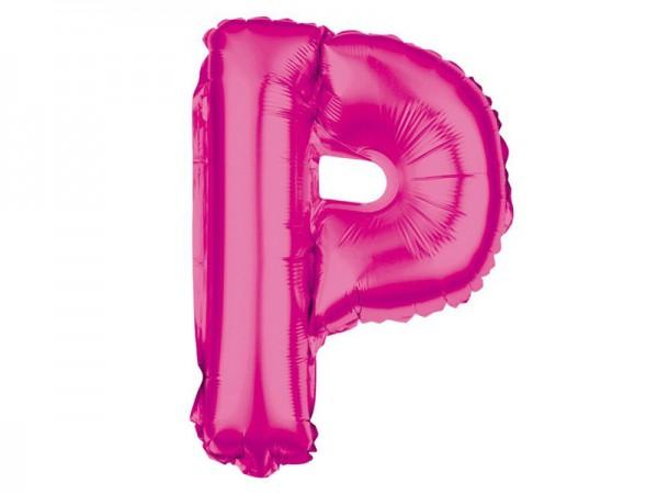 Folienballon Buchstabe P pink Buchstabenballon