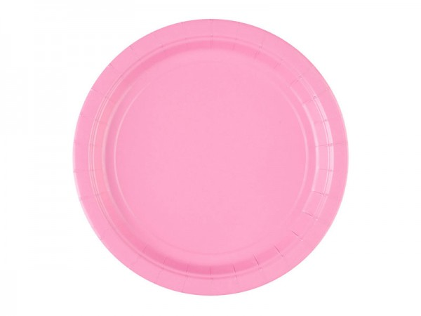 Pappteller rosa Partyteller