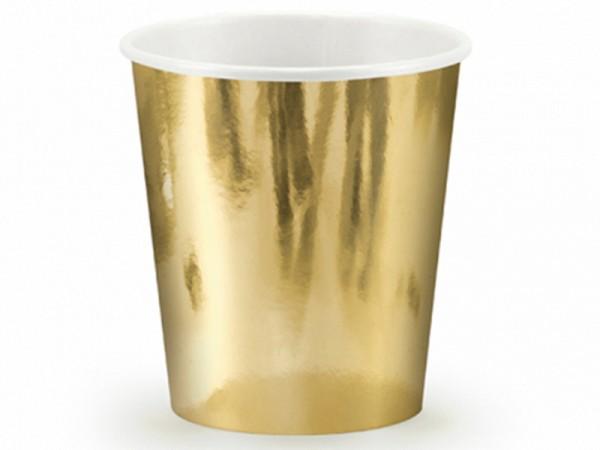 Gold glänzende Partybecher