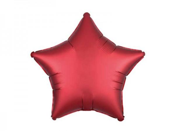Folienballon Stern rot