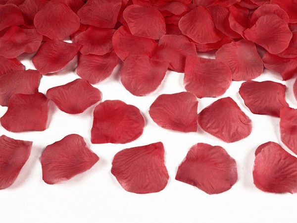 Deko Rosenblätter rot