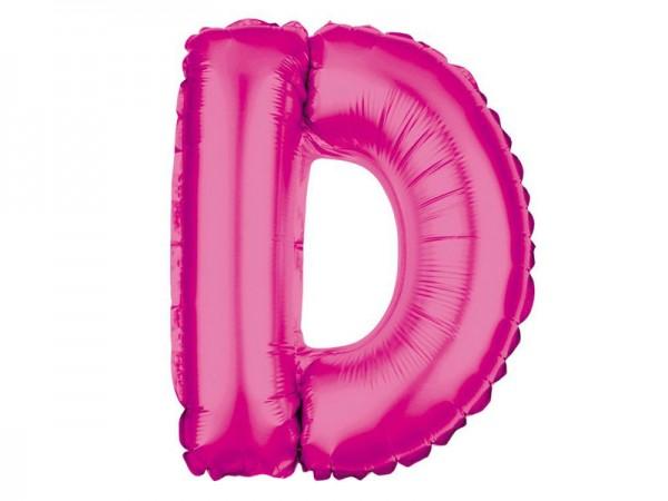 Folienballon Buchstabe D pink Buchstabenballon