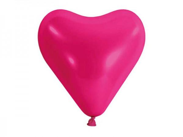 Herzballons pink 10 Stk.