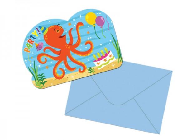 Geburtstagseinladungen Ocean Buddies Einladungskarten Unterwasserwelt Kindergeburtstag