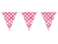 Wimpelkette rosa-weiß