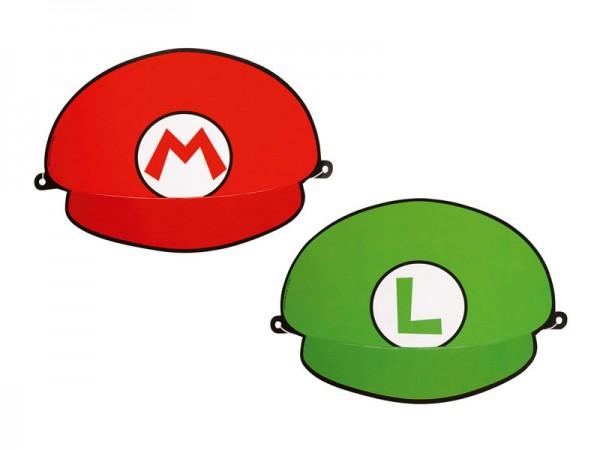Partyhüte Super Mario Partymasken Mario und Luigi