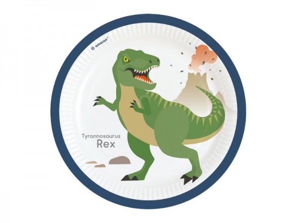 Pappteller Dinosaurier Partyteller Tyrannosaurus Rex