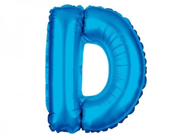 Folienballon Buchstabe D blau Buchstabenballon