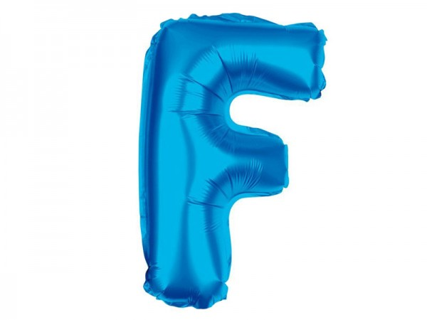 Folienballon Buchstabe F blau Buchstabenballon