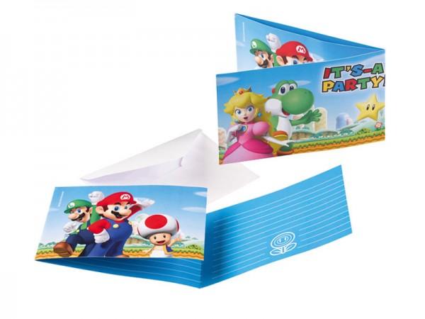 Geburtstagseinladungen Super Mario Einladungskarten für den Kindergeburtstag