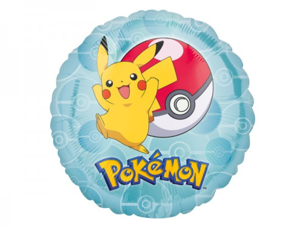 Folienballon Pokemon Ballon mit Pikatchu und Pokeball