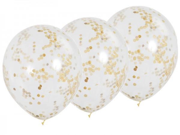 Konfettiballons gold Konfettiluftballons