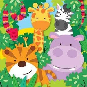 Dschungeltiere Motto Kindergeburtstag