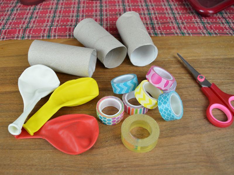 Materialien für Konfettikanone